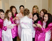 Bride Robe Personalized Robe, Bridal Party Robes Getting Ready Robes Wedding Robe for Wedding day w/ Embroidered name and Wedding Date