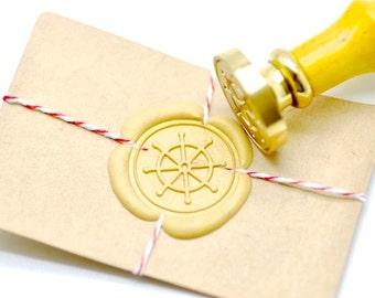 B20 Wax Seal Stamp Nautical Ship Wheel