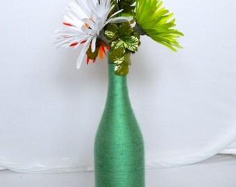 St Patty's Day Floral Arrangement Wine Bottle