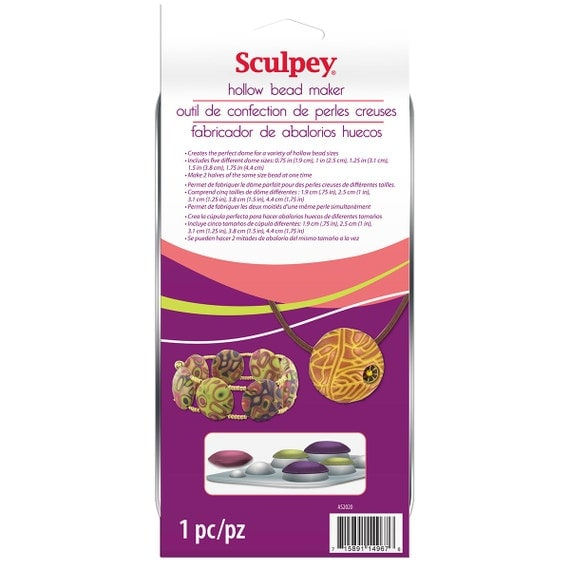 Hollow bead maker by sculpey, make beautiful polymer clay beads and pendants.