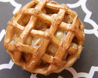 Apple pie polymer clay miniature food refrigerator magnet Free shipping