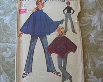 Vintage Pattern Simplicity 7871 Poncho and Pants 10