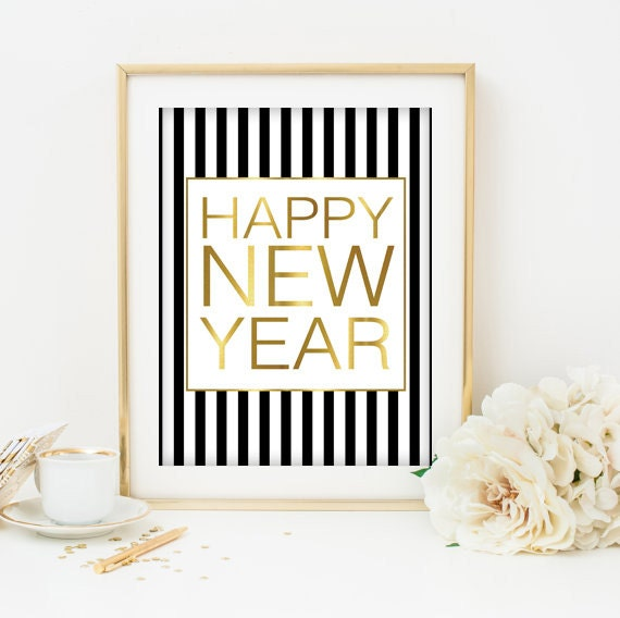 Happy New Years Print by Designsbybiancab on Etsy