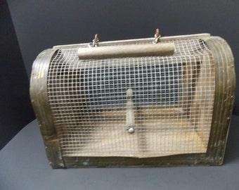 Bird cage, Wood and Wire rustic bird carrier or coop Pigeon Coop, Repurpose  material, Pigion coop, bird coop  Art project Craft project