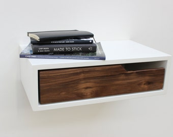 floating nightstand on Etsy, a global handmade and vintage ...