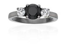 Trio Black & White Diamond Ring
