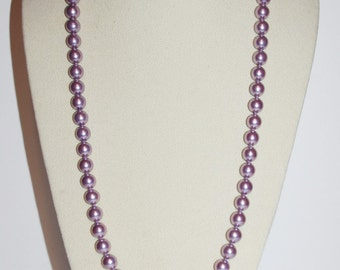 Joan Rivers Pearl Necklace - Lavendar Faux Pearls                        - S1098