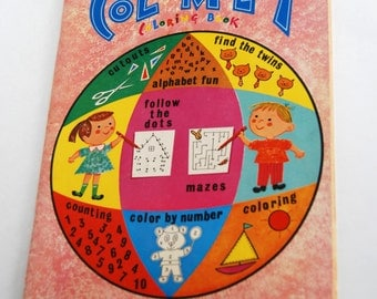 Vintage Children's Coloring Book, Color Play