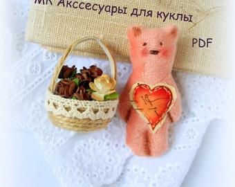 PDF Accessories for Doll,Pattern PDF,doll accessories,Sewing Tutorial PDF, pattern
