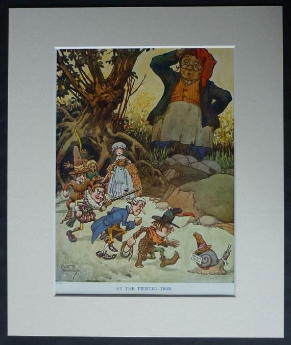 1920s Vintage Fairy Tale Print Of Pixies By CEB Bernard