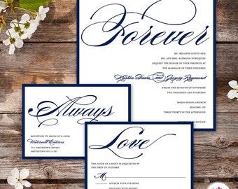 Lucky In Love Wedding Invitation Digital File