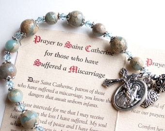 Saint Catherine of Sweden Rosary Bracelet, Patron of Those Who Have Suffered a Miscarriage, Catholic Jewelry, Gifts of Hope, Healing Gifts
