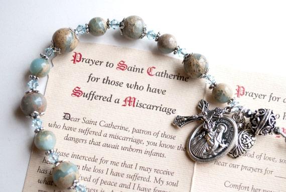 Saint Catherine Of Sweden Rosary Bracelet Patron Of Those Who