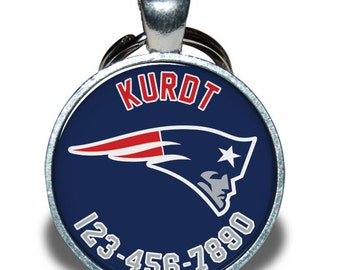 Pet ID Tag - Patriots *Inspired* - Dog tag, Cat Tag, Pet Tag