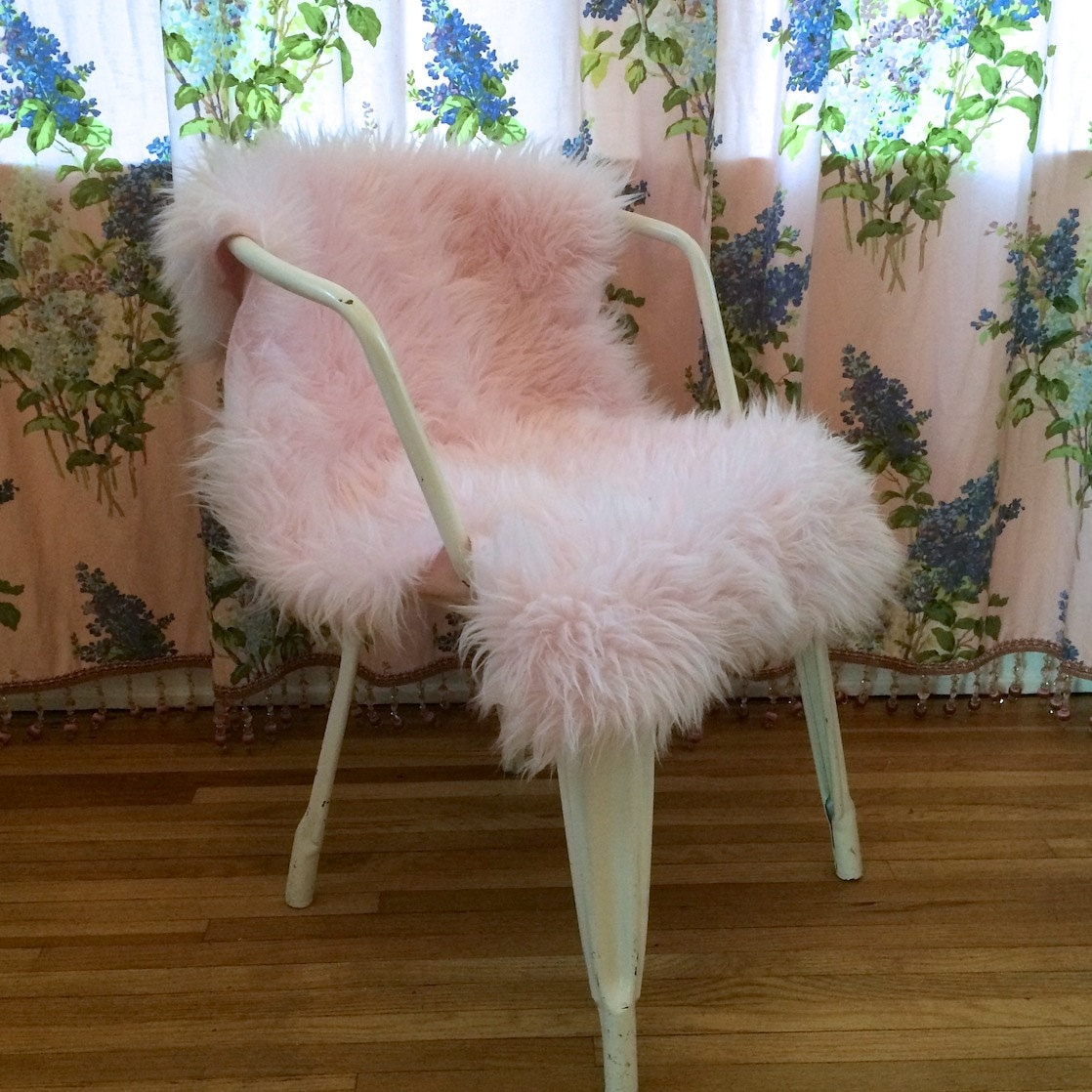 FAUX FUR RUG Chair Cover Or Pet Bed. Custom By CloudHunterCo