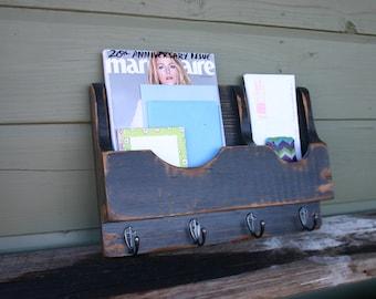 Mail organizer-Mail holder-Letter holder-Mail and Key holder-Hanging Magazine rack-Magazine storage-Magazine holder-Magazine/Letter