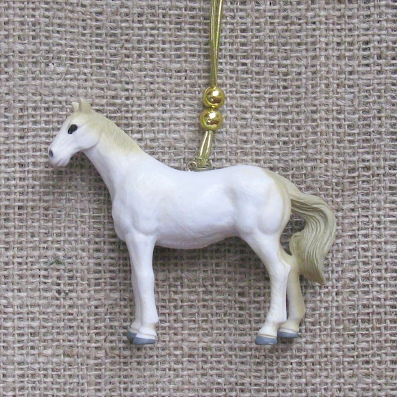 Christmas Tree Ornaments Horse: White Horse Christmas Tree Ornament Children's Kids