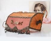 Reserved for Moe--Vintage silk lamp bed or boudoir lighting with fringe
