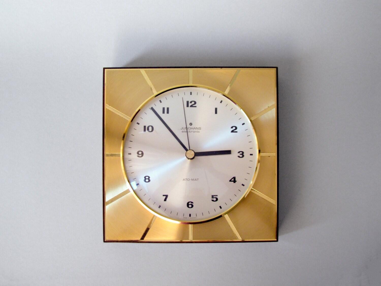 Vintage montre Junghans horloge laiton années 60 par LeKosmosBerlin