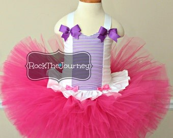 Doc Birthday Party Tutu Outfit-Doctor Nurse Lab Coat Halloween Pageant Dress Costume-Baby Girl Cake Smash  First 1st 1 2 Twins Pink Purple