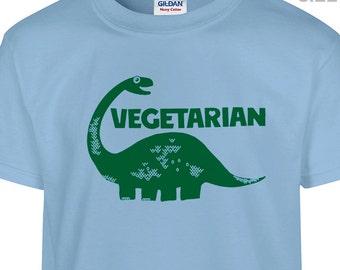 YOUTH / KIDS Vegetarian Dinosaur T Shirt Vegetarian Kids T Shirt Vegan Cute Kids Shirt Childrens Vegtarian Shirt