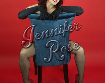 Jennifer Rose Pin Up Burlesque Photo