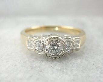 Stunning Contemporary Bezel Set Diamond Ring 1PJ4D7-R