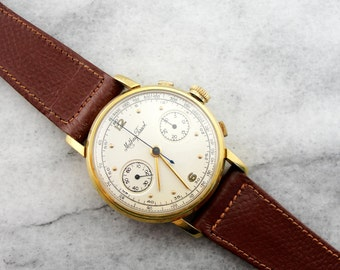 Vintage Mathey Tissot 1960's Wrist Watch in 18K Yellow Gold LTTDLL-D