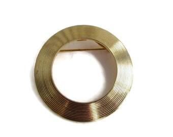 Vintage Goldtone Eternity Brooch Pin