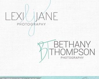 Custom Handwritten Logo Design with Initials - Custom Logo Photography Watermark