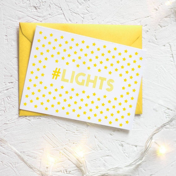 CHRISTMAS LIGHTS HASHTAG Card Packs Unique Geek Fairy Yellow