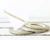 Gold Washi Tape, Thin Washi Tape, Christmas Washi Tape, Skinny Washi Tape, Metallic Gold Washi, Planner Washi Tape, Planner Decoration