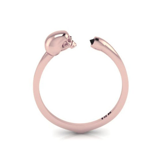 Until death do us part 14K Rose Gold Ring with Black Diamond