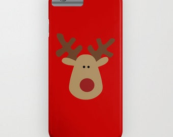 Red Iconic Reindeer iPhone 5 Case, iPhone 6, iPhone 6 Plus, iPhone 5c, iPhone 5s, Galaxy s5 Case, Samsung Galaxy s4, iPhone 4,4S,3G,3GS