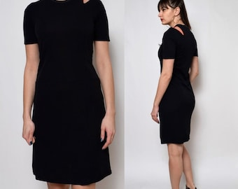 Vintage 90's Cut Out Black Dress
