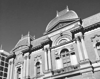 Striking Architecture, Washington DC // Dedicated to Art // Black and White Fine Art Photography // Square Photo Print
