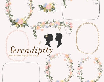 Hand Painted Wedding Clip Art - Serendipity