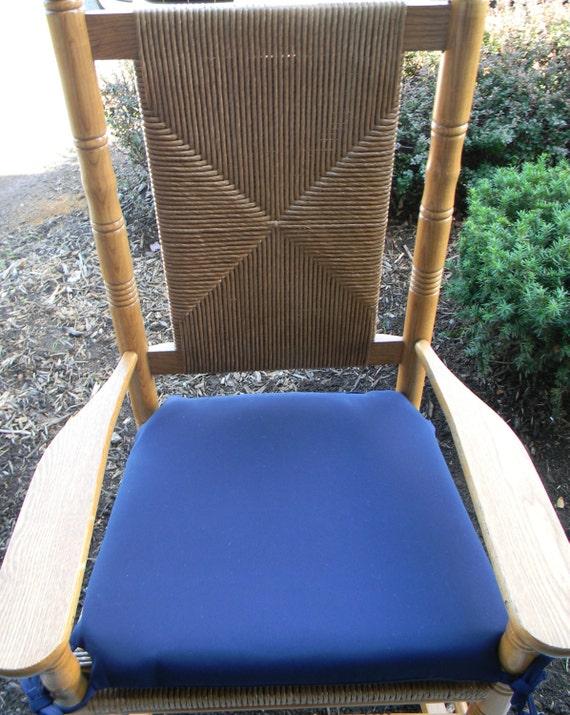 / Outdoor Solid Color Seat Cushion for Cracker Barrel Rocking Rocker ...