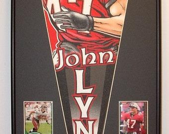 Tampa Bay Buccaneers John Lynch Pennant & Cards...Custom Framed!!!