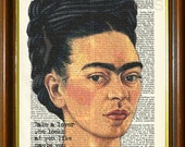 Frida Kahlo Quote / Frida Kahlo Print / Frida Kahlo Poster / Frida Kahlo Wall Art / Frida Kahlo Dictionary Art / Frida Kahlo Art / 8.5x11""