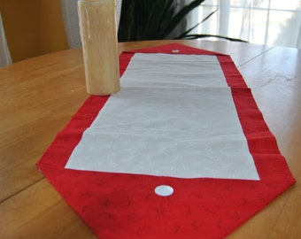 Snowmen and Christmas Trees Table Runner