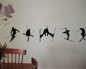 Skier Vinyl  Wall Decal - Easy to apply - Long Lasting
