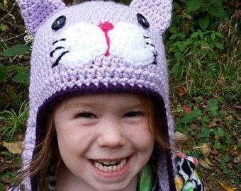 Crocheted Kitty Hat