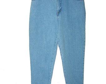 Vintage High Waist  Mom Jeans Tapered leg size M L