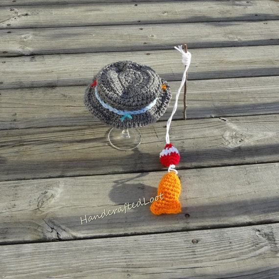 Crochet newborn baby fisherman photo prop by handcraftedloot for Baby fishing outfit