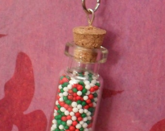 Christmas Non Parriels Bottle Charm Necklace
