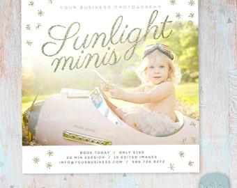 Photography Marketing Board - Sunlight Mini Sessions - Photoshop Template - IG009 - INSTANT DOWNLOAD