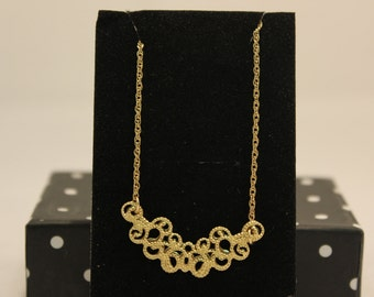 Gold filled plate necklace