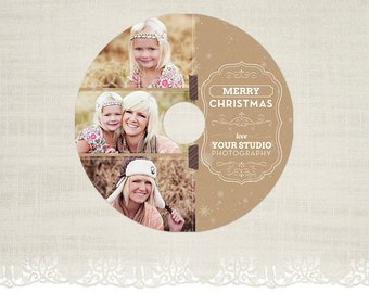 Christmas CD/DVD Label - Photography CD Label Template -CD09