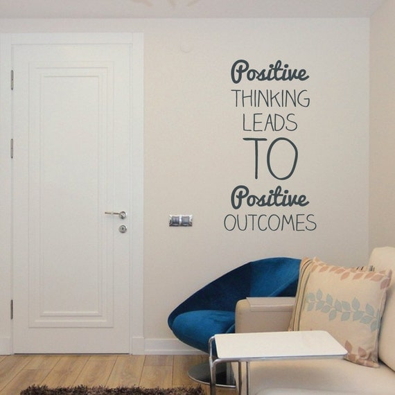 Positive Thinking Wall Sticker Decal Wall Vinyl Quote Mural